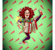 Alfred (Weird Al) Yankovic and Harvey the Wonder Hamster Photographic Print