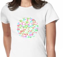 Circle of HeArts  - JUSTART © Womens Fitted T-Shirt