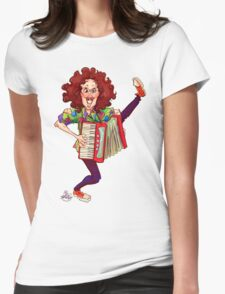 Alfred (Weird Al) Yankovic and Harvey the Wonder Hamster Womens Fitted T-Shirt