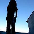 Sky girl silhouette by slabypress