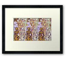 Colourful Camera Heads Framed Print