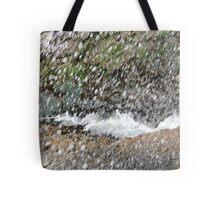 Seaspray seaweed and rocks Tote Bag