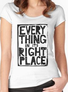 Everything in Its Right Place - Radiohead Women's Fitted Scoop T-Shirt