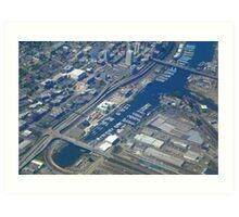Tacoma, Washington. Aerial View Art Print