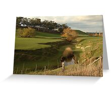 Green Pasture,Daylesford District Greeting Card