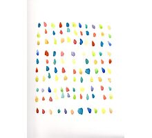 Whimsical Watercolor Rainbow Dots Photographic Print