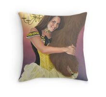 Belle and Her Beast Throw Pillow