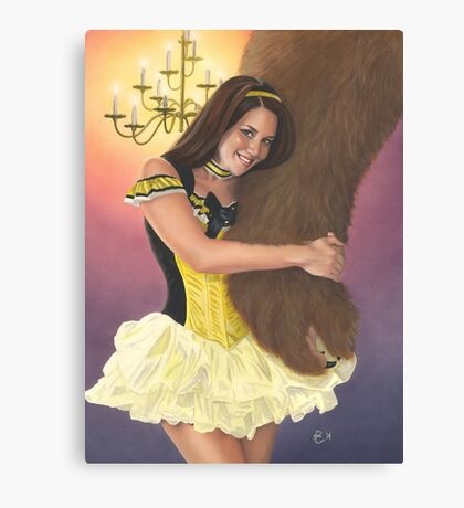 Belle and Her Beast Canvas Print