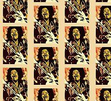 Jimi Hendrix - Design 4 by Kevin J Cooper
