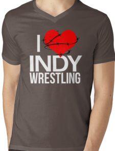 """""""I Love Indy Wrestling"""" Mens V-Neck T-Shirt"""