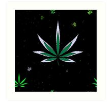 Colorful Marijuana Leaves Art Print