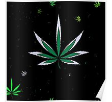 Colorful Marijuana Leaves Poster