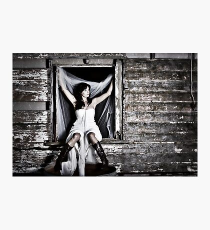 Farmer girl Photographic Print