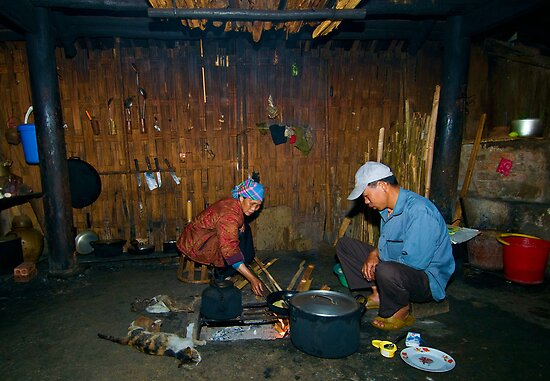 In the kitchen, Vietnam by Geraldine Lefoe