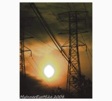 #362           Sunset With Powerlines T-Shirt