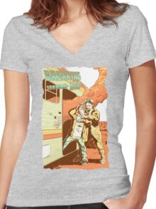 Breaking Bad to the Future Women's Fitted V-Neck T-Shirt