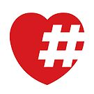 hashtag in a heart by kislev