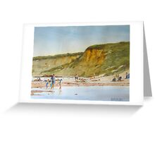 Angelsea beach mid summer Greeting Card
