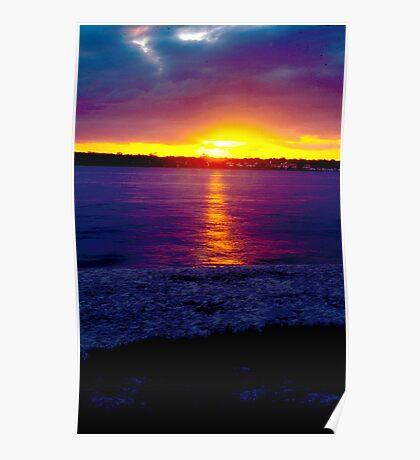 Sunset Bribie Island Poster