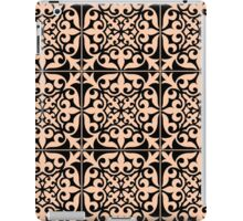 Moroccan tile - peach and black  iPad Case/Skin