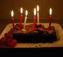 Chocolate Birthday Cake by alexandra jordan