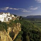 Houses on Cliff of El Tajo Gorge, Ronda, Spain  by Petr Svarc