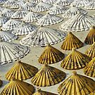 Yellow and White Saa-Paper Umbrellas (Thailand)  by Petr Svarc
