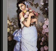 Amy Winehouse in a Rose Garden  by PrivateVices