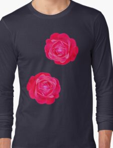 Two pink roses Long Sleeve T-Shirt