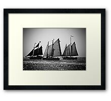 Three 19th Century Schooners Framed Print