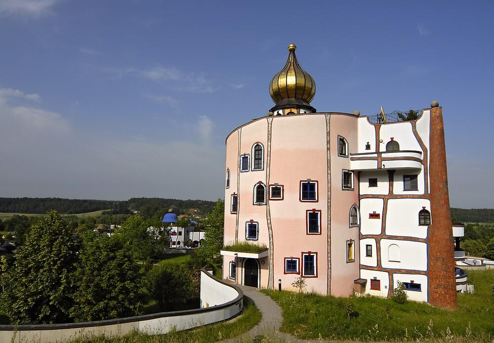 Rogner Thermal Spa and Hotel by Hundertwasser in Bad Blumau, Austria by Petr Svarc