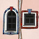 Colourful Windows, Bad Blumau Spa and Hotel by Hundertwasser, Austria  by Petr Svarc