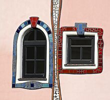 Colourful Windows, Bad Blumau Spa and Hotel by Hundertwasser, Austria  by Petr Svarc