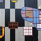 Colorful Facade of Hundertwasser's Spittelau Incinerator Plant in Vienna, Austria  by Petr Svarc