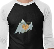 Home is Where the Heart Is Men's Baseball ¾ T-Shirt
