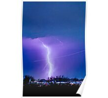 Lightning Strike - City Lights - Jett  II Color Poster