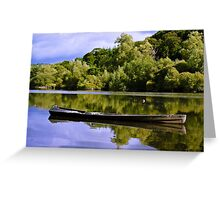 fishing cot, River Nore, Inistioge, County Kilkenny, Ireland Greeting Card