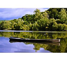fishing cot, River Nore, Inistioge, County Kilkenny, Ireland Photographic Print