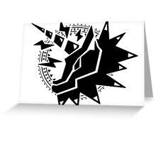 Kirin Sigil [Black] Greeting Card