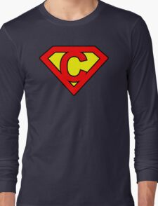 C letter in Superman style Long Sleeve T-Shirt