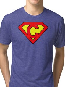 C letter in Superman style Tri-blend T-Shirt
