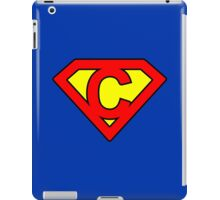 C letter in Superman style iPad Case/Skin