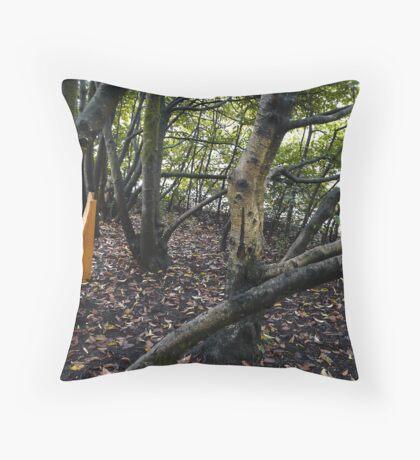 hidden bench Throw Pillow