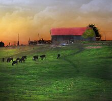 """Twilight & The Old Farm"" by Melinda Stewart Page"