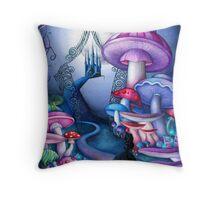 Alice Gates to Wonderland Throw Pillow