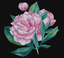 Watercolor Peony Bouquet Baby Tee