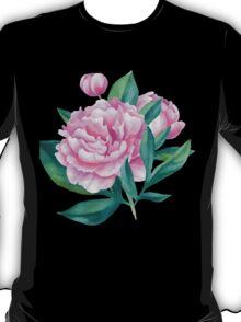 Watercolor Peony Bouquet T-Shirt