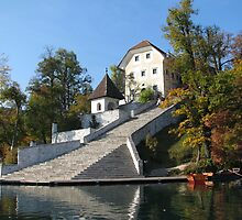Bled Island Staircase by Elena Skvortsova