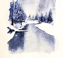 Ice river by Waterandcolors