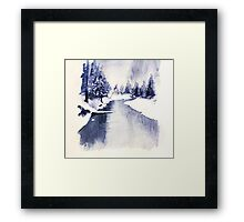 Ice river Framed Print